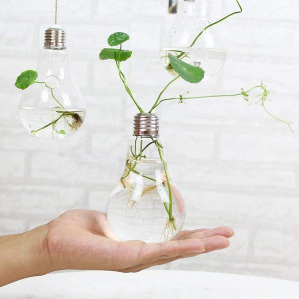 Clear Light Bulb Flower Vase Stand