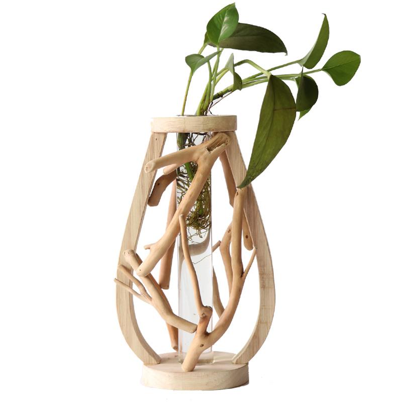 Wooden Vase for Home Decoration
