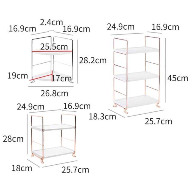 Bathroom Shelf Storage Rack Display Stand Shelves Cosmetics Shampoo Holder Shower Caddy Bathroom Organizer Multi-layer
